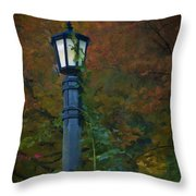 Autumn Lamp Throw Pillow