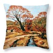 Autumn Landscape Throw Pillow
