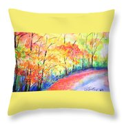 Autumn Lane Iv Throw Pillow