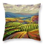 Autumn Lanscape Throw Pillow