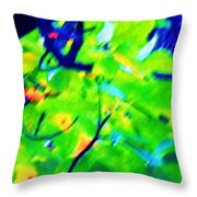 Autumn Leaf Abstract Throw Pillow