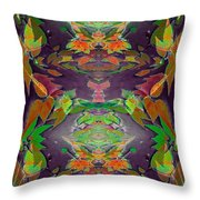 Autumn Leaf Delight Throw Pillow