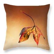 Autumn Leaf Fallen Throw Pillow