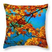 Autumn Leaves 7 Throw Pillow