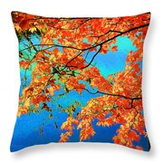 Autumn Leaves 8 Throw Pillow