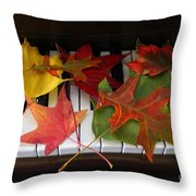 Autumn Leaves - A Love Song Throw Pillow