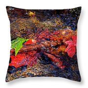 Autumn Leaves Abstract Throw Pillow