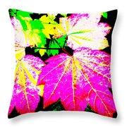 Autumn Leaves Holiday Style Throw Pillow