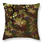Autumn Leaves In Kyoto Throw Pillow