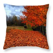 Autumn Leaves Throw Pillow