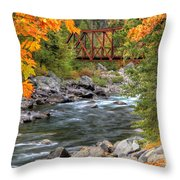 Autumn Leaves Keep Falling Throw Pillow