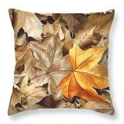 Autumn Leaves Series 2 Throw Pillow