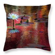 Autumn Lily Throw Pillow