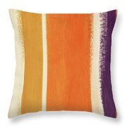 Autumn Lines- Art By Linda Woods Throw Pillow