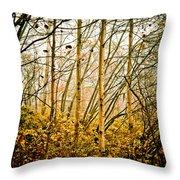 autumn Lines Throw Pillow