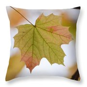 Autumn Maple Leaf Vertical Throw Pillow