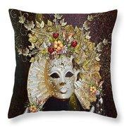 Autumn Mask Throw Pillow