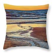 Autumn Merging - Sauble Beach 6 Throw Pillow