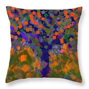 Autumn Message Tree Throw Pillow