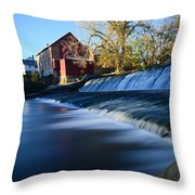 Autumn Mill Portrait Throw Pillow