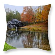 Autumn Mill Throw Pillow