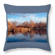 Autumn Mirror Throw Pillow