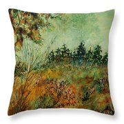 Autumn Mist 68 Throw Pillow
