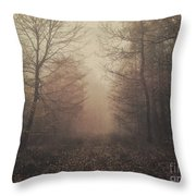 Autumn Mists Throw Pillow