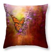 Autumn Monarch Throw Pillow