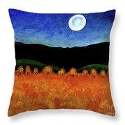 Autumn Moon I Throw Pillow