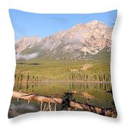 Autumn Morning At Pyramid Mountain Throw Pillow