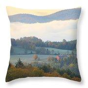 Autumn Morning In Peacham Vermont Throw Pillow