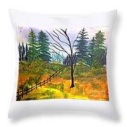 Autumn Morning In The Wild Throw Pillow