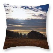 Autumn Morning On The Fields Throw Pillow