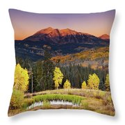 Autumn Mountain Landscape, Colorado, Usa Throw Pillow