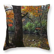 Autumn Mountains Throw Pillow