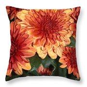 Autumn Mums - Touching Throw Pillow