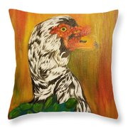 Autumn Muscovy Portrait Throw Pillow