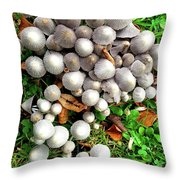 Autumn Mushrooms Throw Pillow