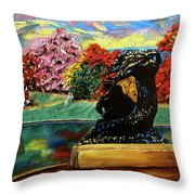 Autumn Music Throw Pillow