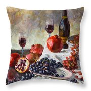 Autumn N' A Flower Throw Pillow