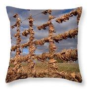 Autumn Net Throw Pillow