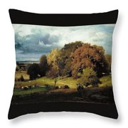 Autumn Oaks , George Inness Throw Pillow