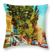 Autumn On Bagg Street Throw Pillow