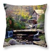 Autumn On Glade Creek Throw Pillow