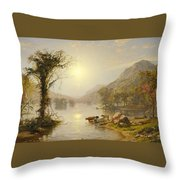 Autumn On Greenwood Lake Throw Pillow