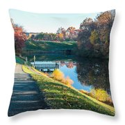 Autumn On Lake Inspiration Throw Pillow