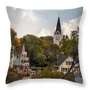 Autumn On Mackinac Island Throw Pillow