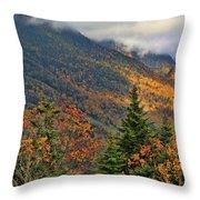Autumn On Mount Mansfield Vermont Throw Pillow