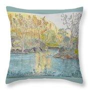Autumn On The Ausable River Throw Pillow